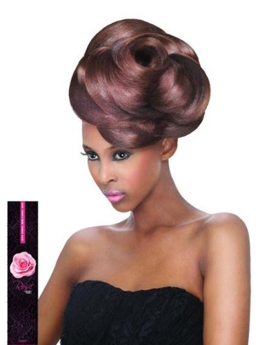 Brown Velvet Rose - Outre Velvet Virgin Human Hair Weave REMI ROSE YAKI (10 INCH, 2 - DARK BROWN)