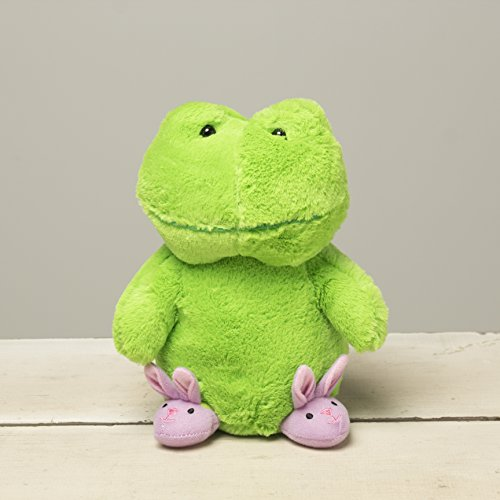 (8 Inch Plush Little Slipper Frog for Kids by Beverly Hills Teddy Bear Co. - Easter and Springtime Decorations)