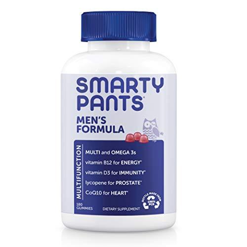 SmartyPants Men's Formula, Daily Multivitamin for Men: Vitamins C, D3, Zinc, Omega 3, CoQ10, & B12 for Immune Support…
