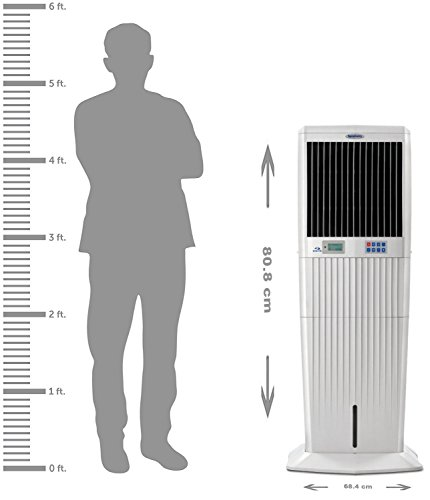 Symphony Diamond i 61 Ltrs Air Cooler (White) - with Remote Control