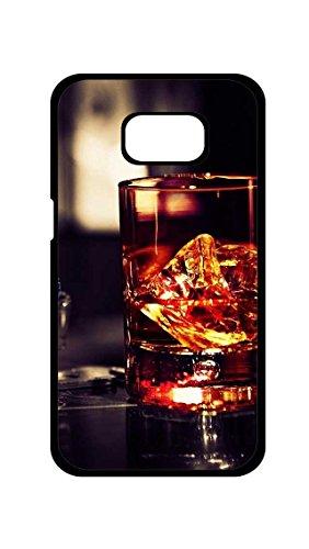 Galaxy S7 Edge Case -Whiskey Glass Rocks TPU Protective Case for Samsung Galaxy S7 Edge (Black)