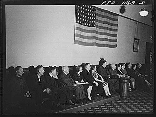 Vintography Reproduced Photo of Minneapolis, Minnesota. A Meeting of The Smaland Society in Minnesota, an Organization of People from The Province of Smaland, Sweden 1942 Delano C Jack 79a by Vintography