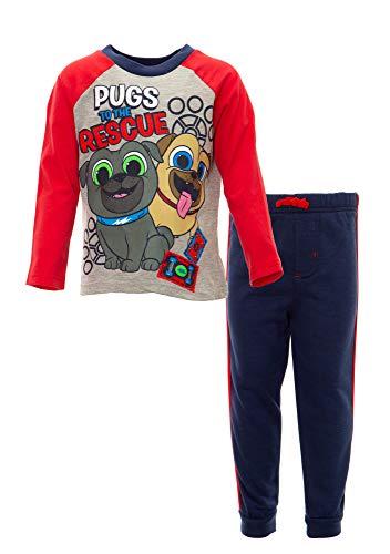 Disney Puppy Dog Pals Rolly Bingo Toddler Boys Fleece T-Shirt & Pants Set