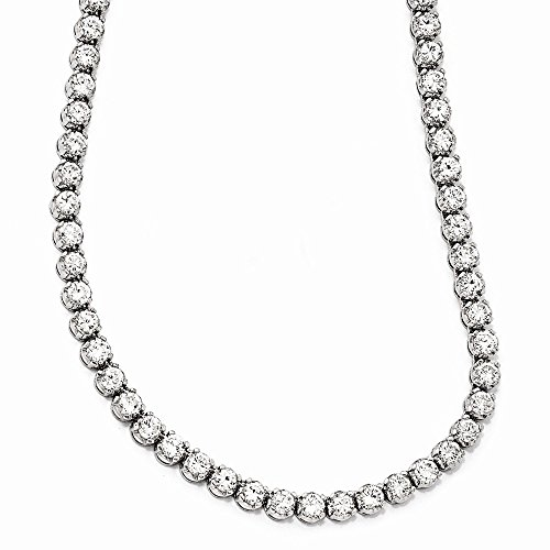 925 Sterling Silver Cubic Zirconia Cz 18 Inch Chain Necklace Pendant Charm Fine Jewelry Gifts For Women For Her