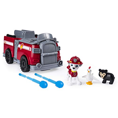 Paw Patrol, Marshall's Ride 'N' Rescue, Transforming 2-in-1 Playset & Fire Truck, for Kids Aged 3 & ()