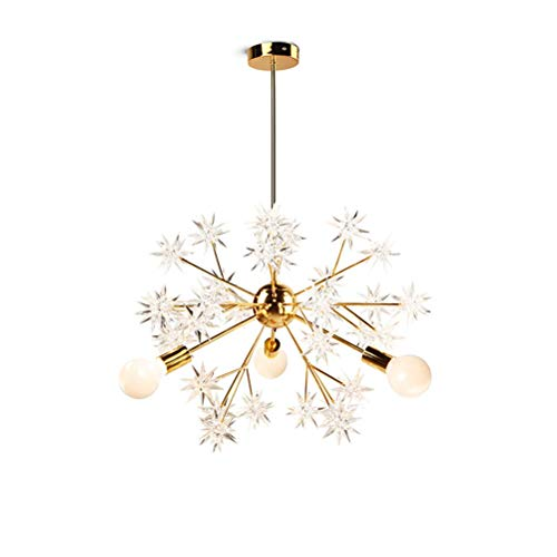 (YJJL Modern Creative Chandelier Spark Ball Star Study Bedroom Hanging Lamp E273 Golden Incandescent Lamp)