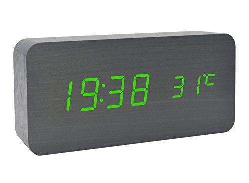 Sound environmental LED wood clock creative clock - 2