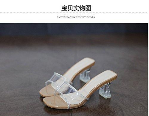 GaoXiao stilvolle nackt transparente kristall und eine schriftart cooler schuh nackt stilvolle - farbe 38e767