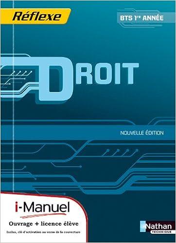 Lire un DROIT BTS 1 (POC REF) +LICENCE pdf ebook
