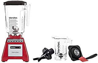 product image for Blendtec Total Blender Classic Set with Wild Side & Twister Jars, Red