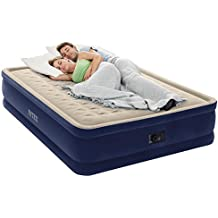 """Intex Dura-Beam Series Elevated Deluxe Airbed with Built-In Electric Pump, Bed Height 18"""", Queen - Amazon Exclusive"""