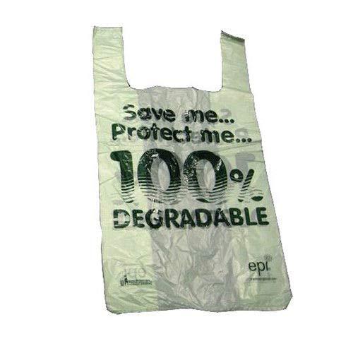 reduce your carbon footprint We Can Source It Ltd 1000 x Large Light Green Biodegradable Vest Carrier Bag 11 x 17 x 21 Shopping Plastic//Oxi Plastic Carrier Bag