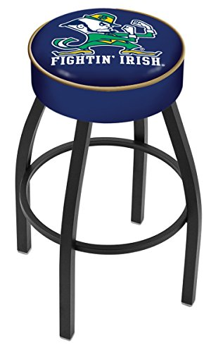 Holland Bar Stool L8B1 Notre Dame (Leprechaun) Swivel Counter Stool, 25