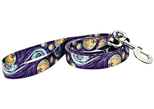 Dutch Dog Amsterdam Eco Friendly Van Gogh Fashion Dog Leash, 5-Feet