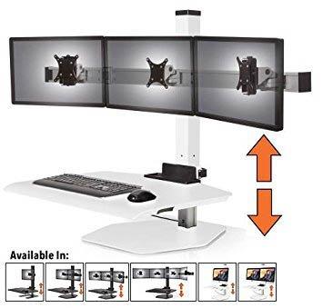 Amazon Com Stand Steady Winston Workstation Triple Monitor Mount
