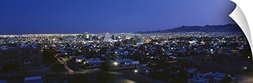 Canvas On Demand Wall Peel Wall Art Print entitled El Paso TX - El Tx Vista Paso