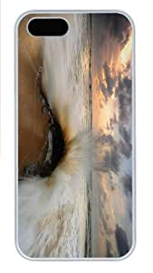discount cover wave clash rock PC White Case for iphone 5/5S