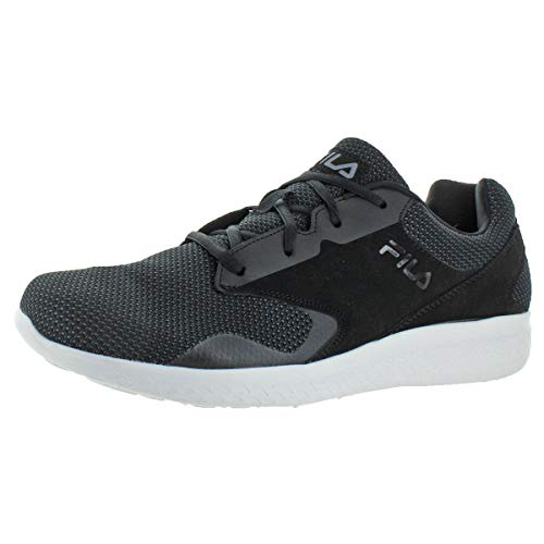 Fila Mens Layers 2.5 Knit Athleisure Casual Shoes Black 10.5 Medium (D)