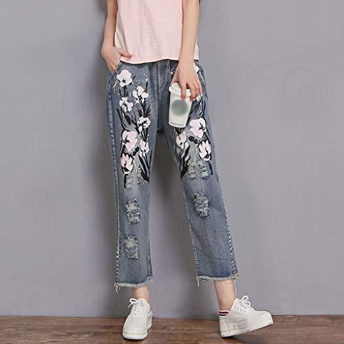 Le Cotone T1 A Casual colore Rxf Pantaloni In Dimensioni Jeans Di Donne Nine Stampati Chiaro A Colore Per qfaSwIaE