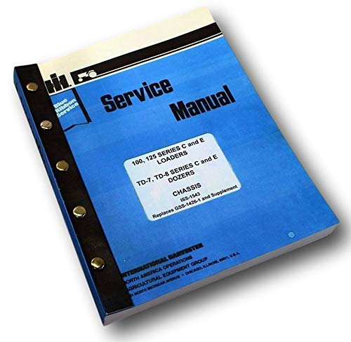 International Dresser Td-7 Series C E Crawler Dozer Service Repair Shop Manual
