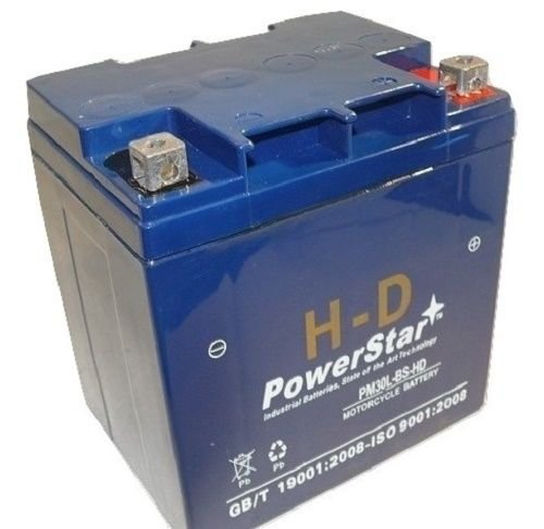 PowerStar PM30L-BS-HD-38 30L-Bs Utility Vehicle Battery For Polaris Ranger 6 x 644; 4 x 4 1998-2009 - 3 Year Warranty