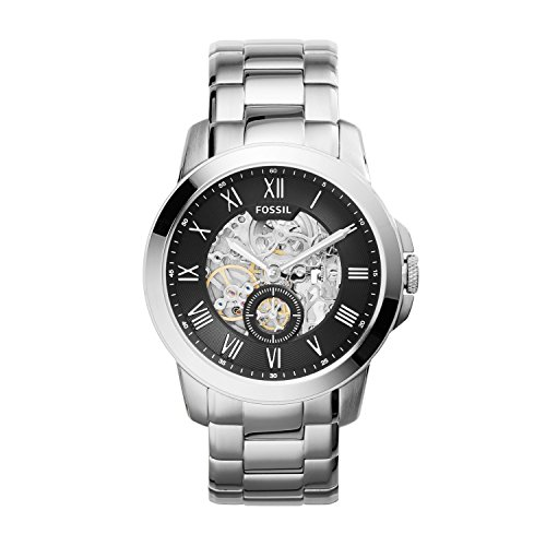 Fossil-Mens-ME3055-Grant-Three-Hand-Automatic-Stainless-Steel-Watch-Silver-Tone