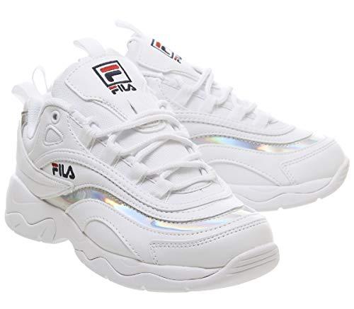 metallic Silver Metallic Fila Donna Ray Bianco Sneaker Argento White FFAqRHxw