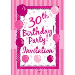 30 tarjetas de invitación de cumpleaños - perfectamente rosa ...