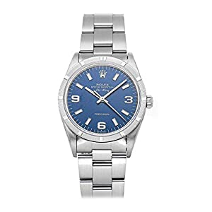 Best Epic Trends 41ipT8-oCfL._SS300_ Rolex Air-King Mechanical (Automatic) Blue Dial Mens Watch 14010 (Certified Pre-Owned)