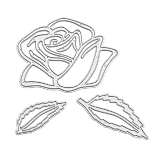 We-buys Rose Cutting Dies Stencil Metal Template for DIY Paper Card Album - Roses Template