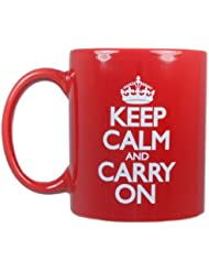 Keep Calm and Carry On Cups Ceramic Set of 4