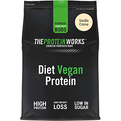 THE PROTEIN WORKS Diet Vegan Protein Powder | 100% Plant-Based | Low Calorie & Low Sugar | Supports Weight Loss…