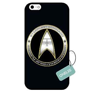 diy case - Customized Classic Movie Star Trek Badge Design TPU Case Cover for Apple iPhone 6 - Black 13 WANGJING JINDA