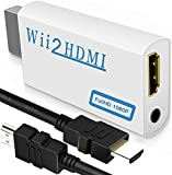 Wii to HDMI Converter 1080P with High Speed Wii HDMI Cable, Wii HDMI Adapter with 3,5mm Audio Jack&HDMI Output…