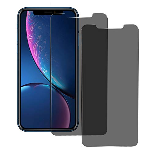 High Grade Privacy Screen Protector for Apple iPhone XR, 6.1 Inches, Anti-Spy Tempered Glass Film, 2-Pack
