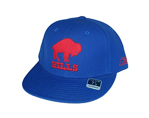 (Buffalo Bills Fitted Size 7 7/8 NFL Authentic Old School Logo Hat Cap - Gridiron Classic Series)