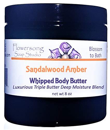 Sandalwood Amber Whipped Body Butter - Luxurious Triple Butter Deep Moisture Blend