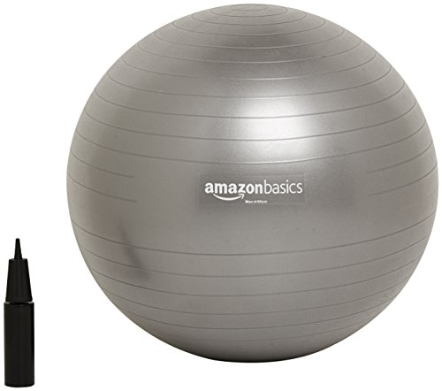 AmazonBasics Balance Ball with Hand Pump - 65 cm