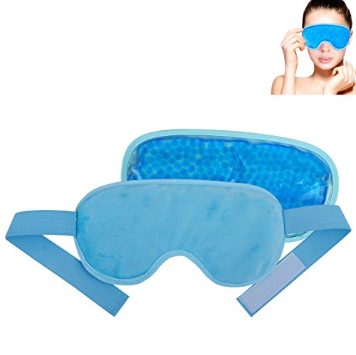[FoMI Gel Bead Eye Mask. Cold Therapy. Dual Sided For Perfect Temperature. Ultimate Comfort.] (Extra Head Costume)