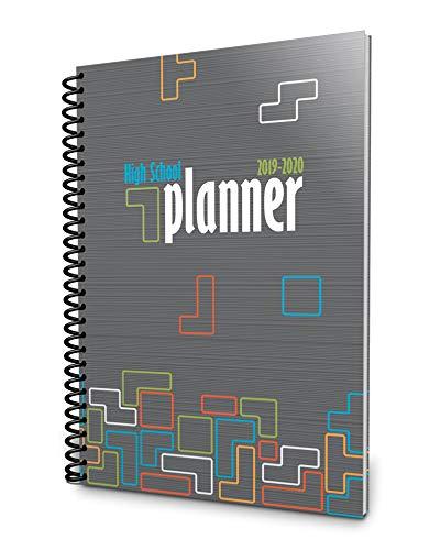 Well Planned Day, High School Planner, Tumbling Tetrominoes, July 2019 - June 2020