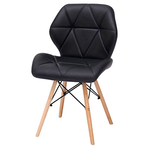 Chair Alder Outdoor (HQCC Leisure Chair Stool Creative Office Home Back Computer Chair Reception Chair (White) (Color : Black))