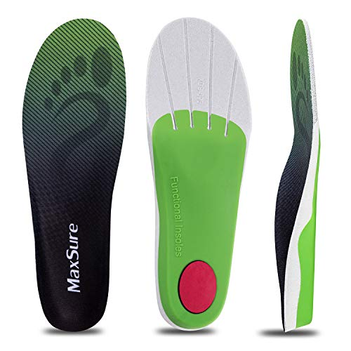 04425435b3 Orthotic Inserts with Arch Support, Plantar Fasciitis Feet Insoles for Flat  Feet, Running,