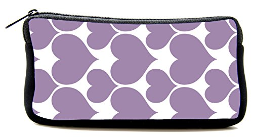 Pen Bag purple Hearts Pencil Case