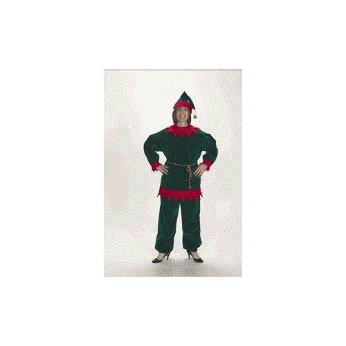 Halco 1199 Adult Velvet Christmas Elf Suit - Size 12-16 (Velvet Elf Suit Costume)