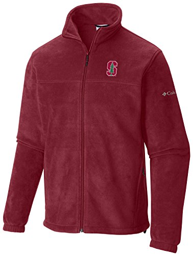 Columbia NCAA Stanford Cardinal Men's Flanker Full Zip Top, Large,