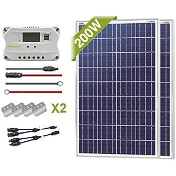 Newpowa 100/200/400 Watt Solar Panel Starter kit (100w/200w/400w) (200W)