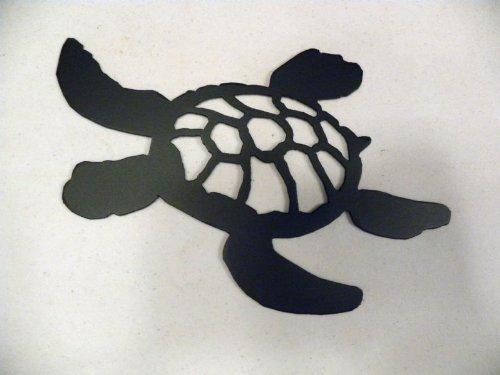 Amazon.com: Turtle Swimming Silhouette Black Metal Wall Art Home ...