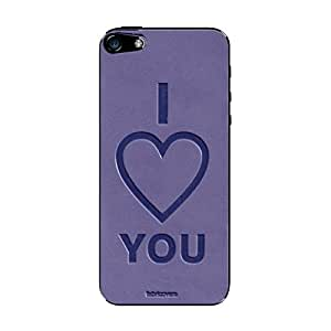 ProClip USA Fabricovers Leather Phone Cover for iPhone 5/5S, Embossed I Love You, Lilac (429310)