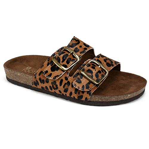 WHITE MOUNTAIN Shoes Helga Women's Sandal, Brown Leopard/Hair Calf LEA, 8 M