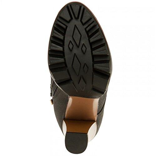 CASPAR SBO079 Women Ankle Boots Black 90YG8